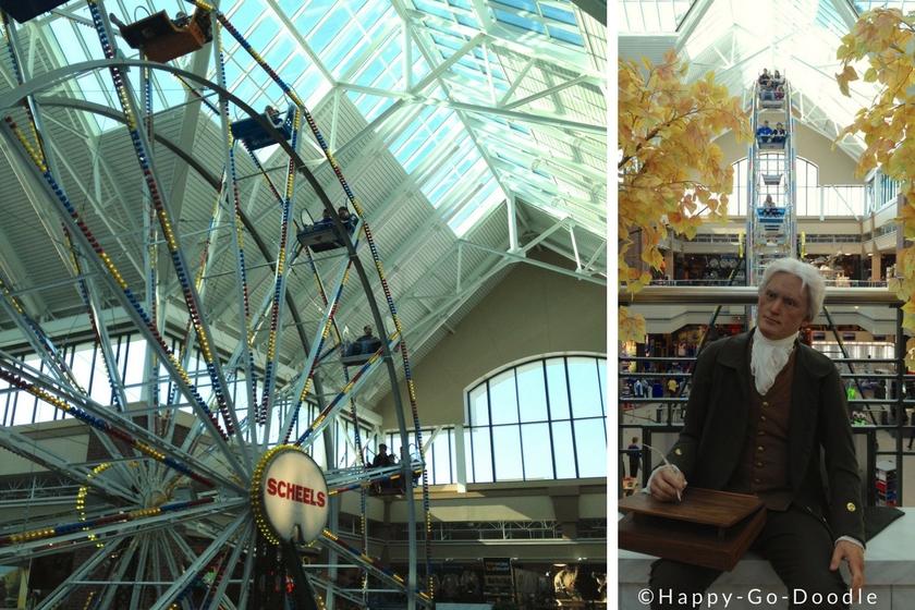 Ferris wheel inside Scheel's store located in Kansas City