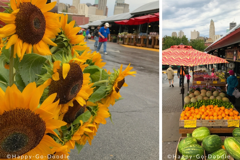 Close-up of sunflowers at a farmer's market