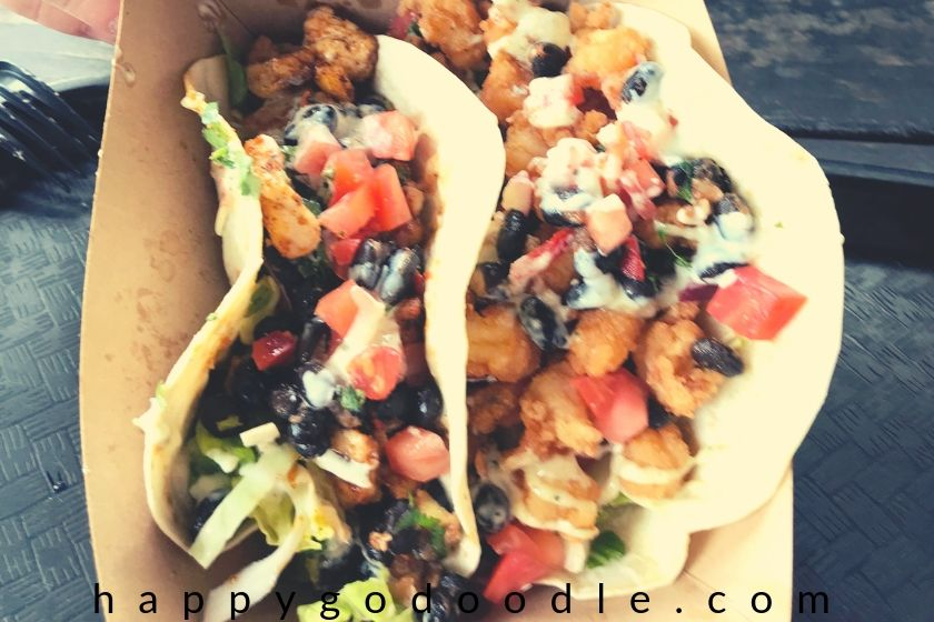 photo of tacos from tomoti's restaurant in fernandina beach