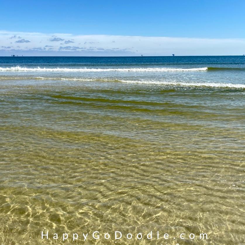 Gentle ocean waves on Dauphin Island, photo